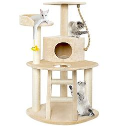 BEAU JARDIN Cat Tree Condo Furniture with Scratching Posts 4