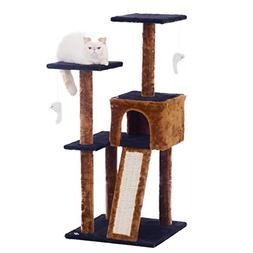 Fluffy Paws Cat Tree Condo Tower with Scratching Posts, Kitt