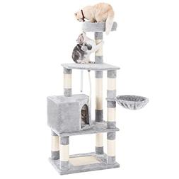 "SONGMICS 58"" Multi-Level Cat Tree with Sisal-Covered Scrat"