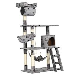 "Good Life Cat Tree House Furniture Condo 62"" Tall Pet Play T"