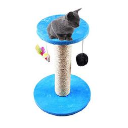 Yunt Cat Tree Kitten Scratching Posts with Hanging Mouse and