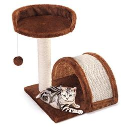 Cat Tree Post Scratcher Furniture Play House Pet Bed Kitten