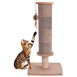 MD Group Cat Tree Scratcher Pads Natural Color Tower Furnitu