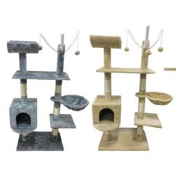 Cat Tree Scratching Post Activity Centre Bed Toys Scratcher