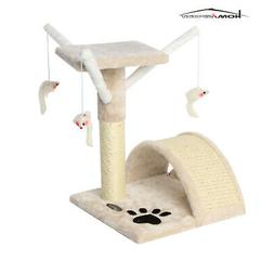 CUPETS Small Cat Tree Scratching Post Furniture Playhouse Ki