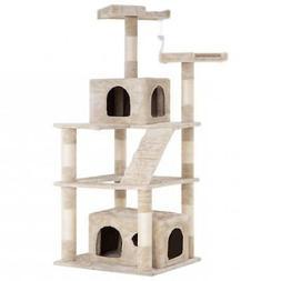 Cat Tree Tower Condo Multi-level Kitten Plush Indoor Cat Pla