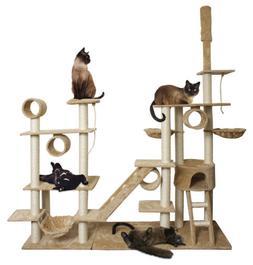 """OxGord Cat Tree 76"""" x 20"""" x 96"""