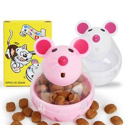 Cat Tumbler Toy Automatic Food Dispenser Funny Mouse Shape P
