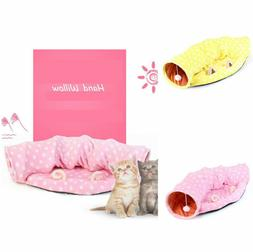 Cat Tunnel Bed Soft Interactive Collapsible Fabric Scratchin