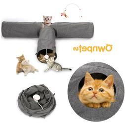 Cat Tunnel Bed Soft Toy Nest Mat Kitten Kitty Pets Collapsib