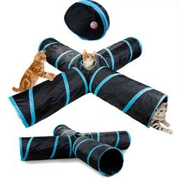 cat tunnel design collapsible 4 way pet