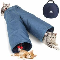 PAWABOO Cat Tunnel Tube Amazing Cat Play Tent Interactive To