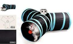 Cat Tunnels for Indoor Cats Tube Toys 3 Way Kitty Tunnel Cat