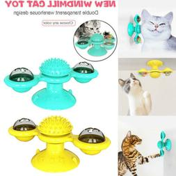 Cat Turning Windmill Turntable Tickle Toy Scratch Hair Brush