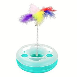 Jocestyle Cat Turntable Scratcher Toy Single Layer Colorful