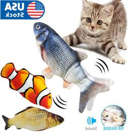 Cat Wagging Fish Electric Realistic Plush Simulation Interac