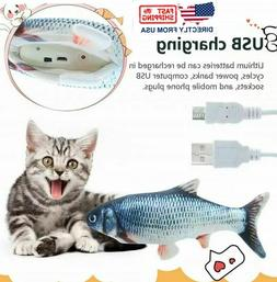 Cat Wagging Fish Electric Realistic Plush Simulation Interac