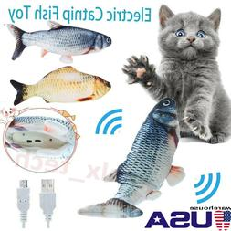 Cat Wagging Fish Toy Interactive Motion Play Pet USB Electro