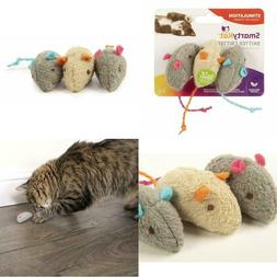 Catnip Cat Toys Three Adorable Mice Spiked with Pure and Pot