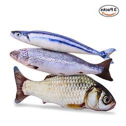"Pet Leso Catnip Fish Toy - Refillable Catnip Toys 11.8"" Le"