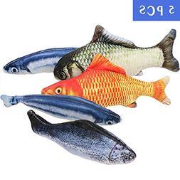 MAXXV Catnip Fish Toys for Cats - North American Organic Cat