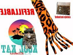 "CATNIP Kick Toy 18"" REFILLABLE Cat Kick Stick, Stix, Kitty K"
