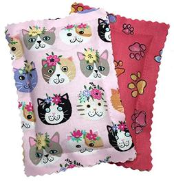 Johnson Pet Products Catnip Pillows Two Pack Pinks Handmade