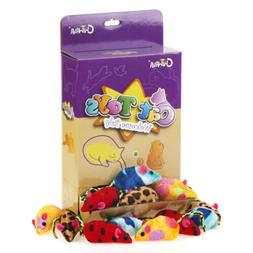 "Chiwava 24PCS 2.4"" Catnip Soft Cat Toys Mice Set with 4 Type"