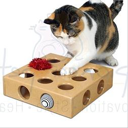 Cats Hide&seek Box Catnip Scratching Toy Funny Peek and Play