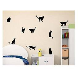 Cats Wall Stickers Art Decals Home Room DIY Decoration