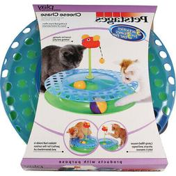 Petstages Cheese Chase With Catnip Mouse Cat Toy Blue