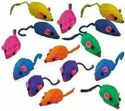 rainbow mice cat toys w real rabbit