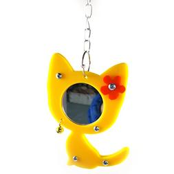 Qin Chen Chen Bird Mirror Toy, Moveable Acrylic Bird Cage To