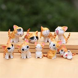 Chi Cat Toys, 9 Pcs Japanese Cute Chi's Sweet Home Cats Doll