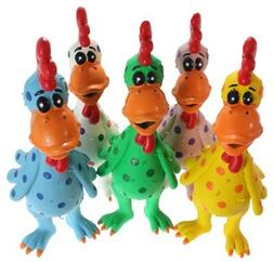 MultiPet Latex Chicken Globken Dog toy Assorted Size:Pack of