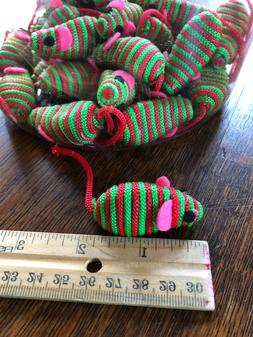 CHRISTMAS STRIPED MICE CAT TOYS - Lots 5/10/24 Holiday Hollo