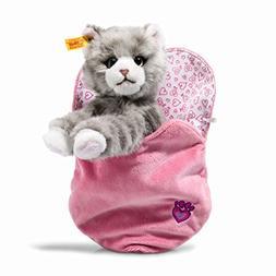 Steiff Cindy Cat Plush Animal Toy, Grey