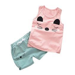 Clearance 2Pcs Set Infant Baby Boys Girls Outfits,Big Eyes C