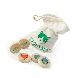 Tender Leaf Toys Clever Cat Memory Game with Canvas Storage