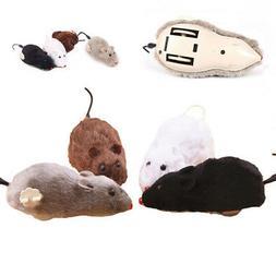 Clockwork Spring Power Plush Mouse Toy Cat Dog Playing Toy M
