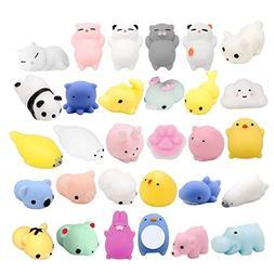 Fstop Labs 30PCS Mochi Squishy Animal Stress Toys, Mini Anim