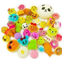 CloverTale 20 Pack Squishy Toy Jumbo Food Squishise Cat Hamb