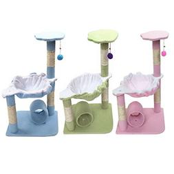 "28"" Pet Club Cat Tree Condo House Scratcher Furniture with H"