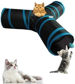 Collapsible Cat Tunnel Tube Interactive Indoor Cats Peek Hol