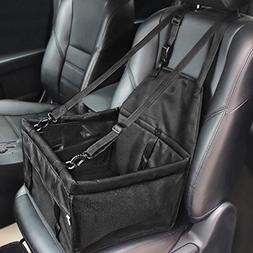 HIPPIH Collapsible Pet Booster Car Seat - Two Support Bars,