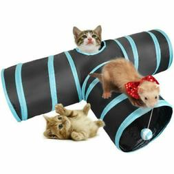 Cat Tunnel 3 Way Pet Y Shape Collapsible Playing Tube Rabbit