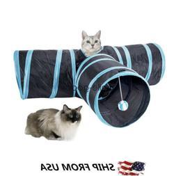 Collapsible Pet Cat Rabbit Tunnel/Bag Y Shape 3 Ways Interac