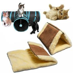 Collapsible Pet Cat Rabbit Tunnel/Bag Y Shape 3 Way Interact