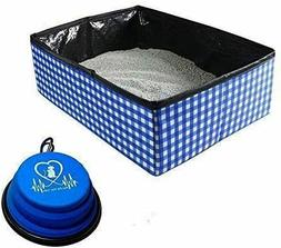 Pet Fit For Life Collapsible Portable Litter Box and Bonus P
