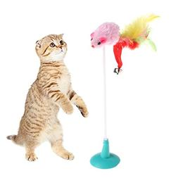 Itemap Colorful Cat Pet Toy Fake Mouse with Suction Cups Fun
